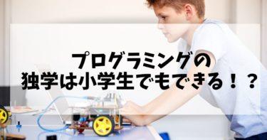 プログラミングの独学は小学生でもできる!?独学方法を紹介!