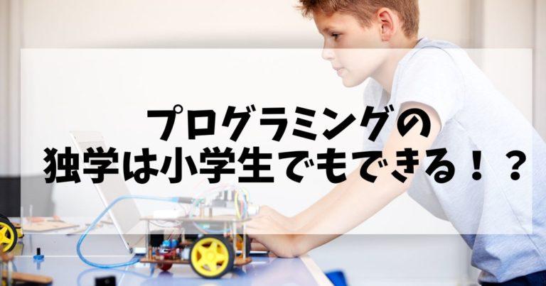 プログラミング独学は小学生でもできる